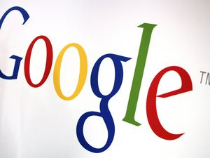 (Mark Lennihan | The Associated Press) Google logo is shown in 2017. The company has acquired 300 acres in Eagle Mountain.