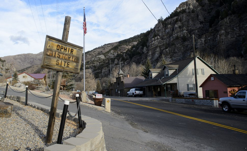 (Steve Griffin | The Salt Lake Tribune) Ophir, in Tooele County, Wednesday, Nov. 22, 2017. Ophir was a town until 2016, when the town voted to disincorporate.