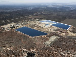 (Courtesy of Dom Smith | EcoFlight) Energy Fuels' White Mesa Mill near Blanding, Utah, is the last conventional uranium mill still operating in the United States.
