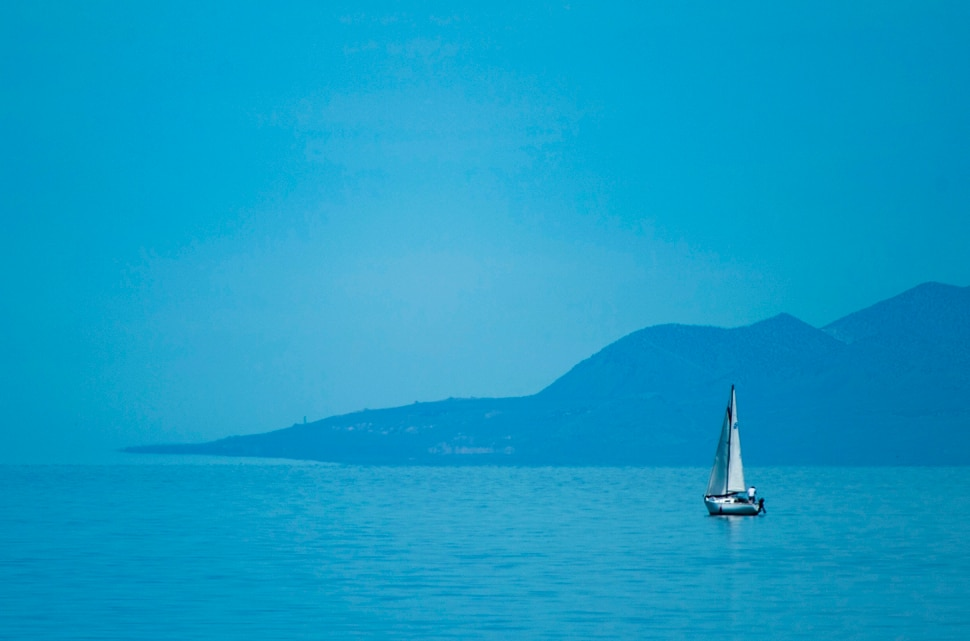 (Rick Egan | The Salt Lake Tribune) A Sail boat on the Great Salt Lake, Tuesday, June 11, 2019.
