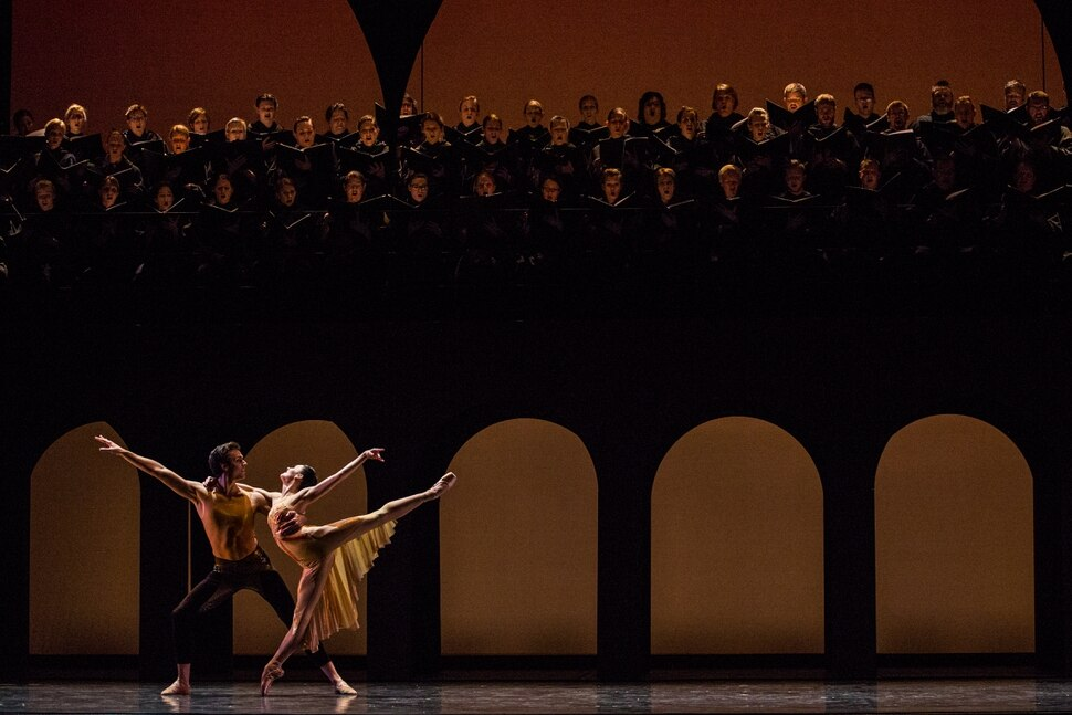 (Courtesy Luke Isley) Ballet West Principal Artists Beckanne Sisk and Chase O'Connell perform in Nicolo Fonte's