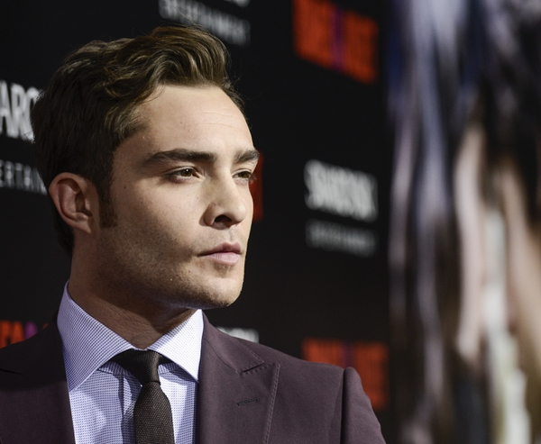 FILE - In this Sept. 24, 2013 file photo, actor Ed Westwick arrives on the red carpet at the premiere of the feature film
