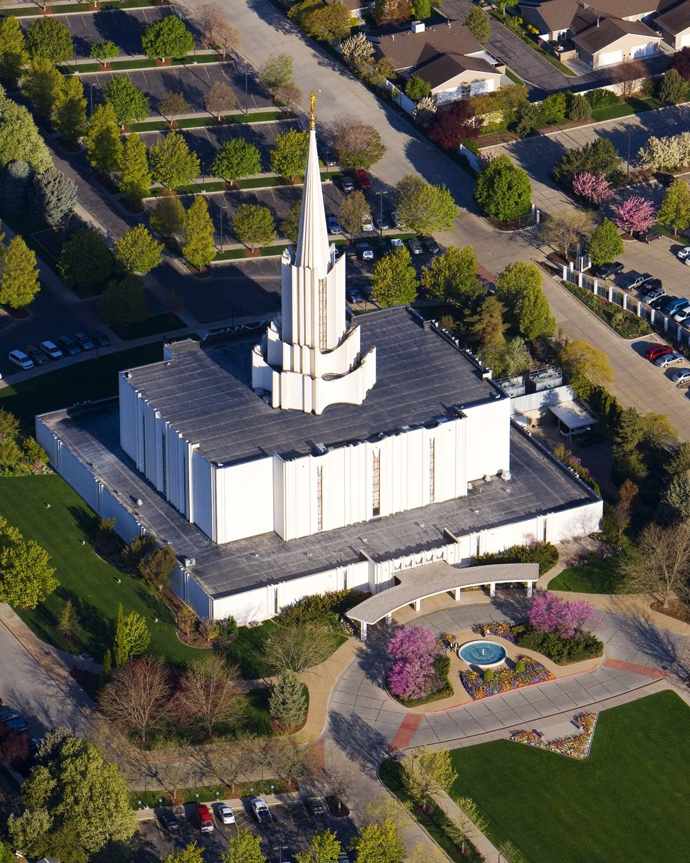 Photo courtesy of LDS Newsroom The Jordan River LDS Temple.