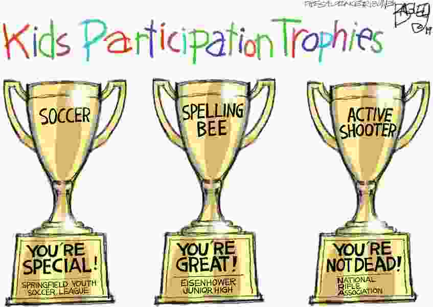 Bagley Cartoon: Participation Trophy