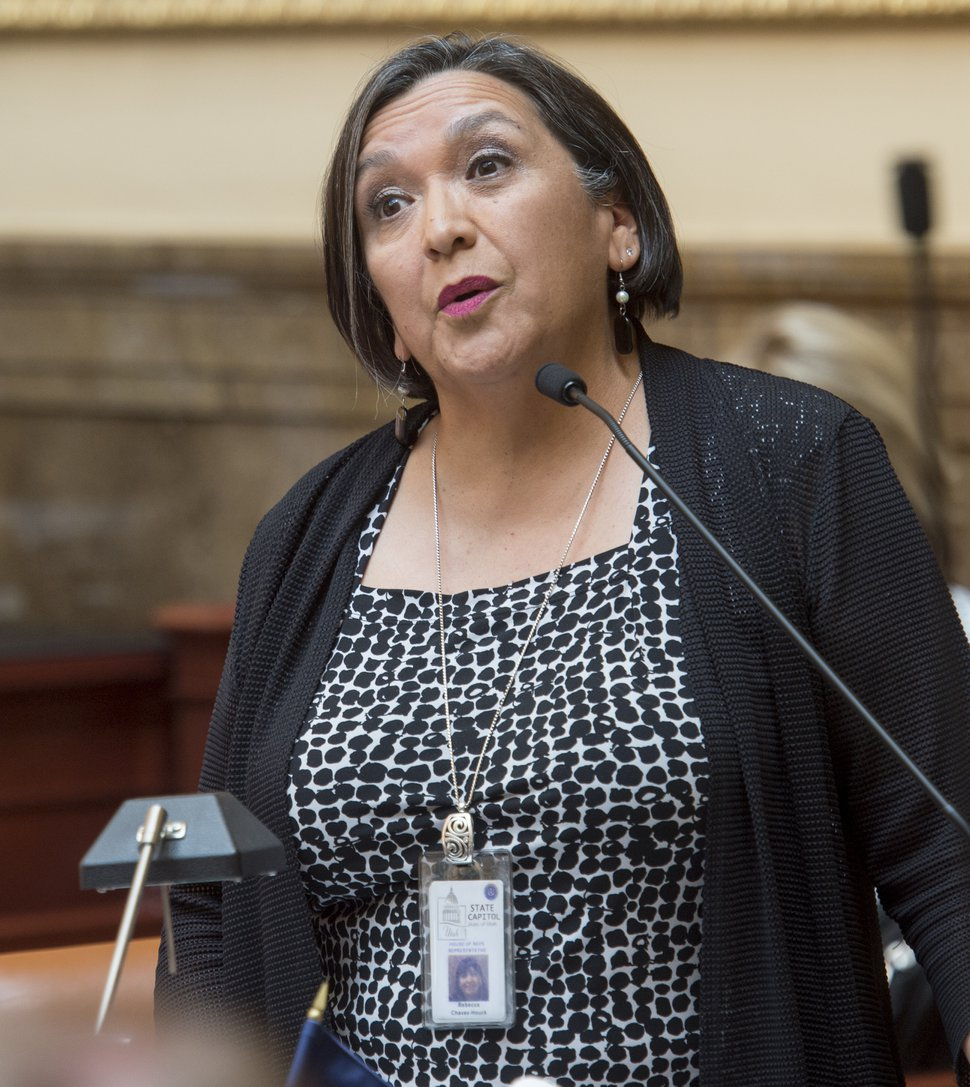 (Rick Egan | The Salt Lake Tribune) Rep. Rebecca Chavez-Houck asks a question about the inland port, in the House of Representatives, during a special session at the Utah Capitol, Wednesday, July 18, 2018.