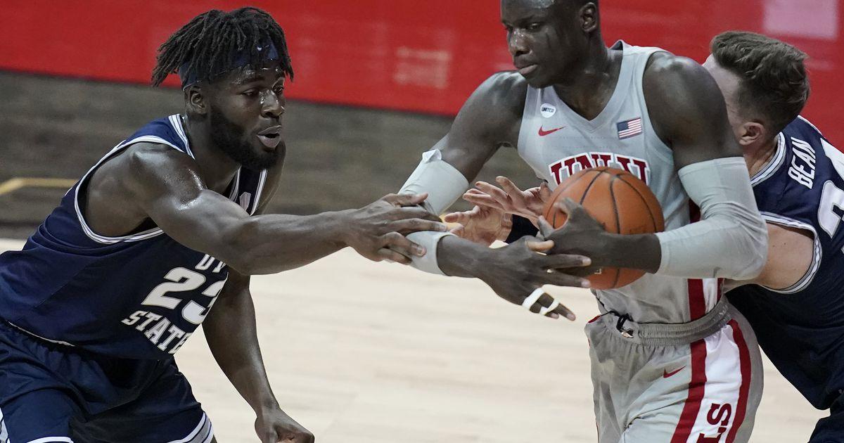 Utah State men's basketball reflects on final home game of season, impact of seniors
