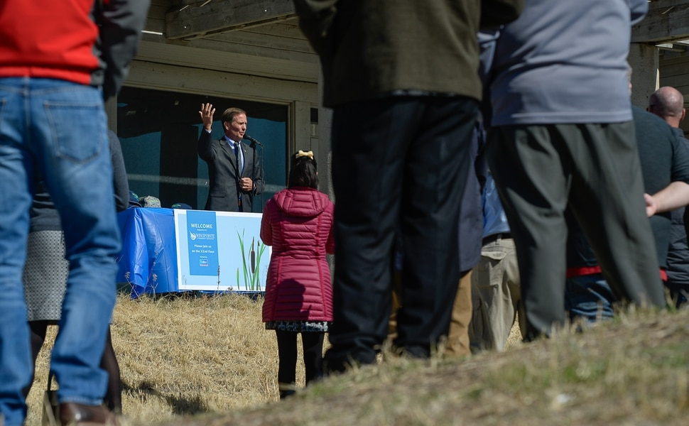 (Francisco Kjolseth | The Salt Lake Tribune) Rep. Chris Stewart (R-Utah) attends an announcement regarding the plans to reopen Wingpointe Golf Course on Tuesday, Oct. 16, 2018. Congress recently passed the Federal Aviation Administration Act, which included Stewart's language to allow Salt Lake City to reopen the golf course for public enjoyment.