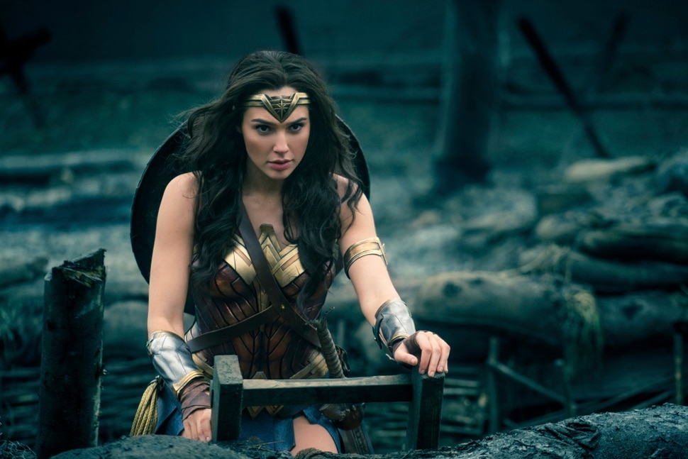 FILE - This image released by Warner Bros. Entertainment shows Gal Gadot in a scene from Wonder Woman. Scattered plans among Alamo Drafthouse Cinemas to host women-only screenings of the upcoming Wonder Woman movie have produced both support and some grumbling about gender discrimination. The movie opens June 2 based on the DC Comics character. (Clay Enos/Warner Bros. Entertainment via AP)