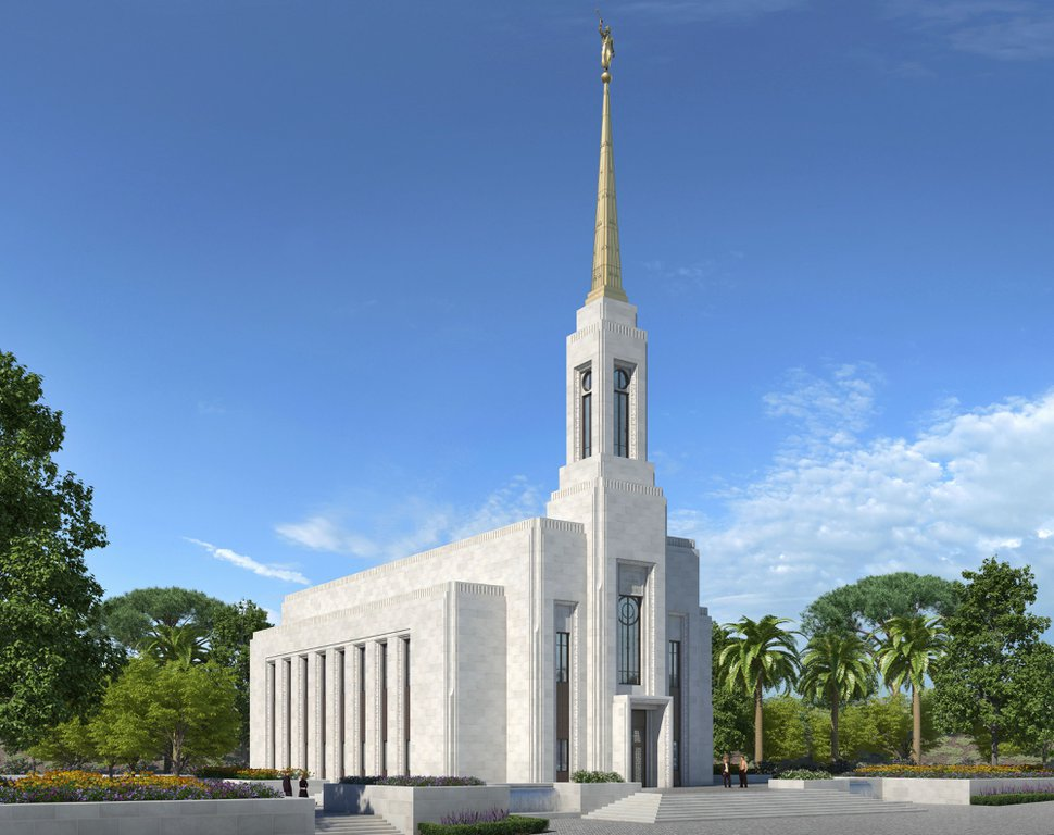 (Photo courtesy of The Church of Jesus Christ of Latter-day Saints) Rendering of the Lisbon Portugal Temple.