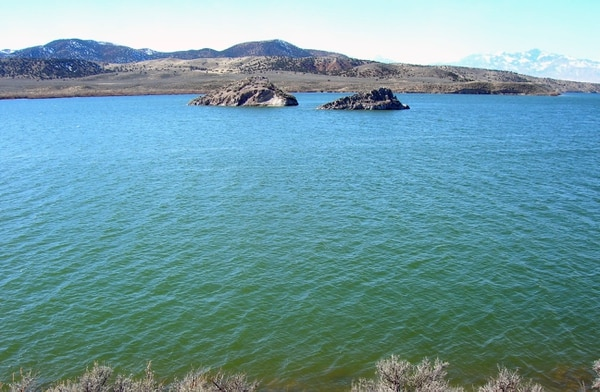 (Mike Slater, Utah Division of Wildlife Resources) This photo shows Yuba when it's filled with water in early spring. Unfortunately, the water level at the popular reservoir drops rapidly in the spring and summer.