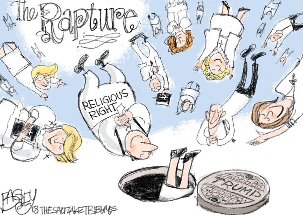 This Pat Bagley cartoon appears in The Salt Lake Tribune on Wednesday, Jan. 17, 2018.