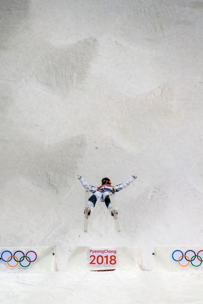 (Chris Detrick   The Salt Lake Tribune) Park City's Jaelin Kauf competes in the Ladies' Moguls Final at Phoenix Park during the Pyeongchang 2018 Winter Olympics Sunday, February 11, 2018. Kauf finished seventh with a score of 76.03.