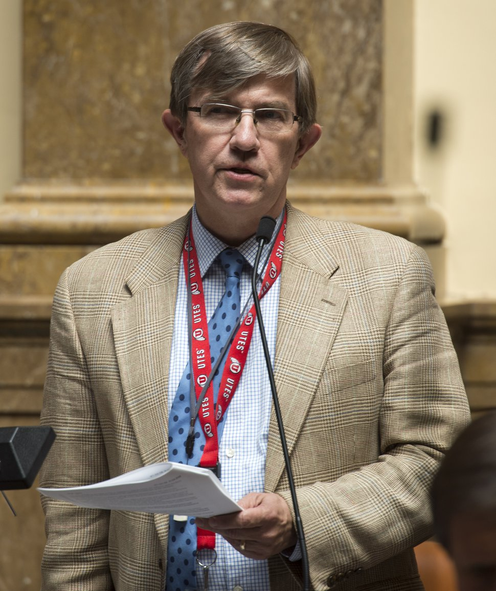 (Rick Egan   Tribune file photo) Rep. Joel Briscoe makes a statement about the inland port, in the house of representatives, during a special session at the Utah State Capitol, Wednesday, July 18, 2018.