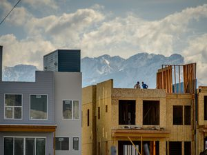 (Trent Nelson  |  The Salt Lake Tribune) Apartments under construction in West Valley City on Tuesday, March 16, 2021.