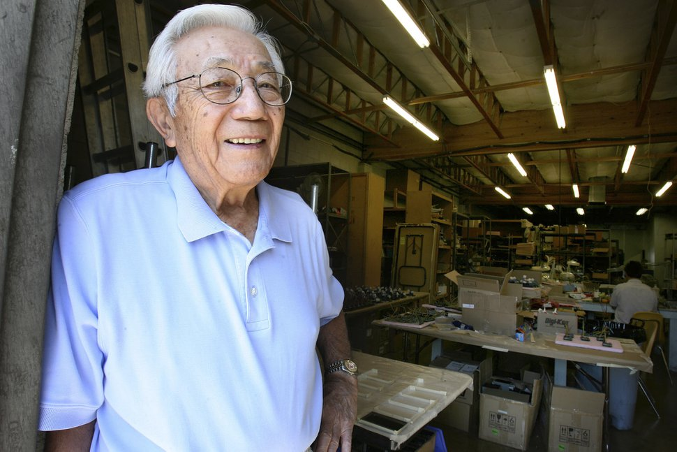 (Scott Sommerdorf | Tribune file photo) Wat Misaka, the first ethnic minority drafted into the NBA in the 1940s, stands at his business in Salt Lake, Sept. 5, 2008. He died Nov. 20, 2019, at age 95.