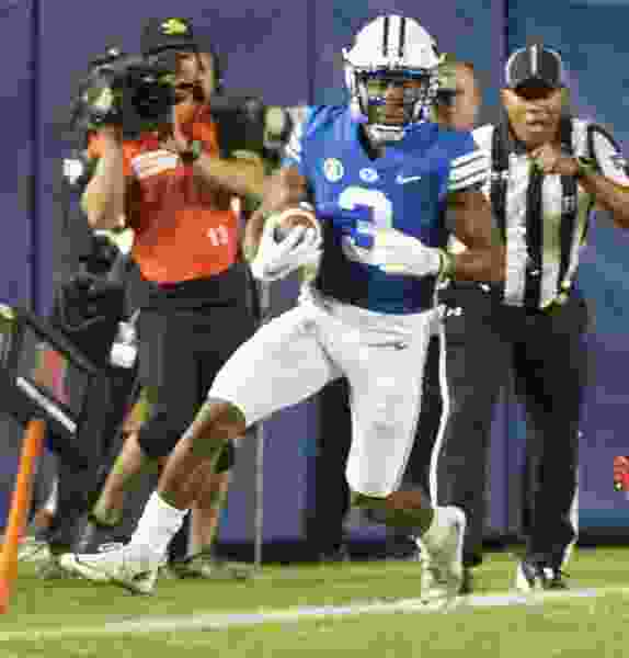 Lightly used receiver Jonah Trinnaman steals the show at BYU Pro Day with blazing speed and freakish athleticism