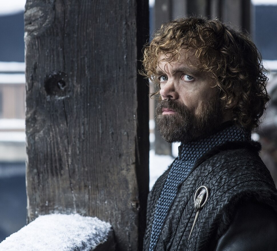"""(Photo courtesy Helen Sloane/HBO) Peter Dinklage as Tyrion Lannister in Season 8 of """"Game of Thrones."""" (Photo courtesy Helen Sloane/HBO) Sophie Turner as Sansa Stark in Season 8 of """"Game of Thrones."""""""