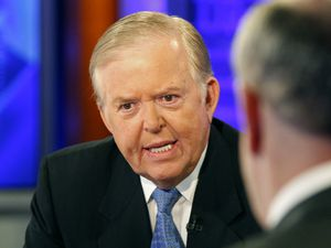 "(Kathy Willens | AP file photo)  In this 2009 file photo, Lou Dobbs, left, speaks with Bill O'Reilly during taping of a segment for Fox News channel's ""The O'Reilly Factor,"" in New York."