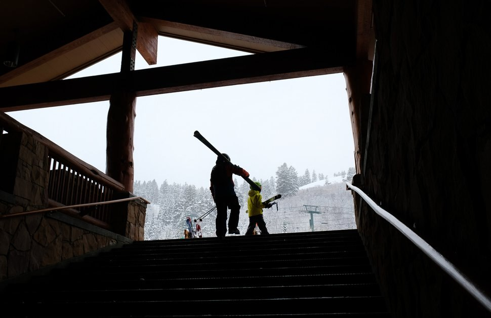 (Francisco Kjolseth   The Salt Lake Tribune) People hit the slopes at Deer Valley on Friday, Dec. 12, 2019. Utah's median lift ticket price is inching toward $100, and Deer Valley now charges up to $209 for a weekday lift ticket. Yet Park City's visitor's bureau says lodging bookings are slightly ahead of this time last year.