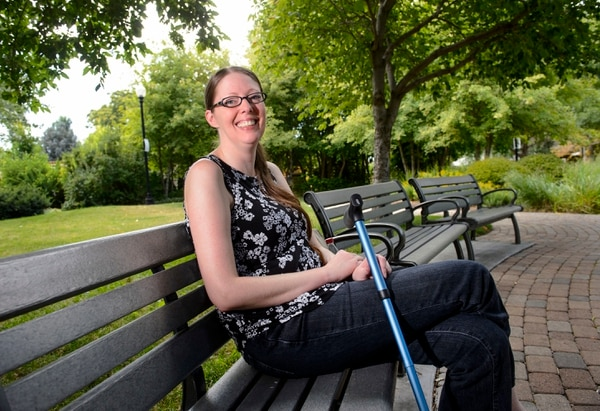 Steve Griffin | The Salt Lake Tribune Amanda Ellis-Graham was diagnosed with MS about 20 years ago and struggled for a long time on the numerous prescription medications she had to take. She was having vision and hearing problems, terrible vertigo and her body would go numb. When she tried medical marijuana, everything changed and she did much better. So she obviously is very much in support of the ballot initiative, like the 77 percent of people polled in our most recent poll. She was photographed in a neighborhood park in Salt Lake City Friday July 28, 2017.
