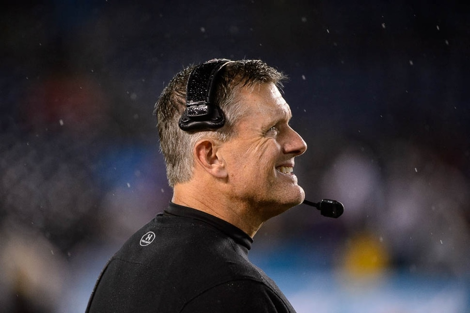 (Trent Nelson | The Salt Lake Tribune) Utah Utes head coach Kyle Whittingham looks to the scoreboard late in the fourth quarter as the University of Utah faces Northwestern in the Holiday Bowl, NCAA football in San Diego, Calif., on Monday Dec. 31, 2018.