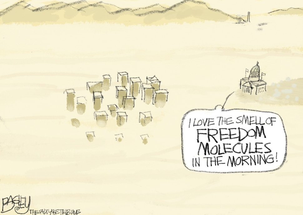 "(Pat Bagley | The Salt Lake Tribune) This cartoon, titled ""The Smell of Freedom,"" appears in The Salt Lake Tribune on Sunday, June 2, 2019."