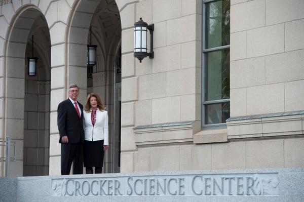 (Rick Egan   The Salt Lake Tribune) Gary and Ann Crocker, at the opening of the new Gary and Ann Crocker Science Center on Presidents Circle on the University of Utah campus in Salt Lake City, Thursday, April 19, 2018.