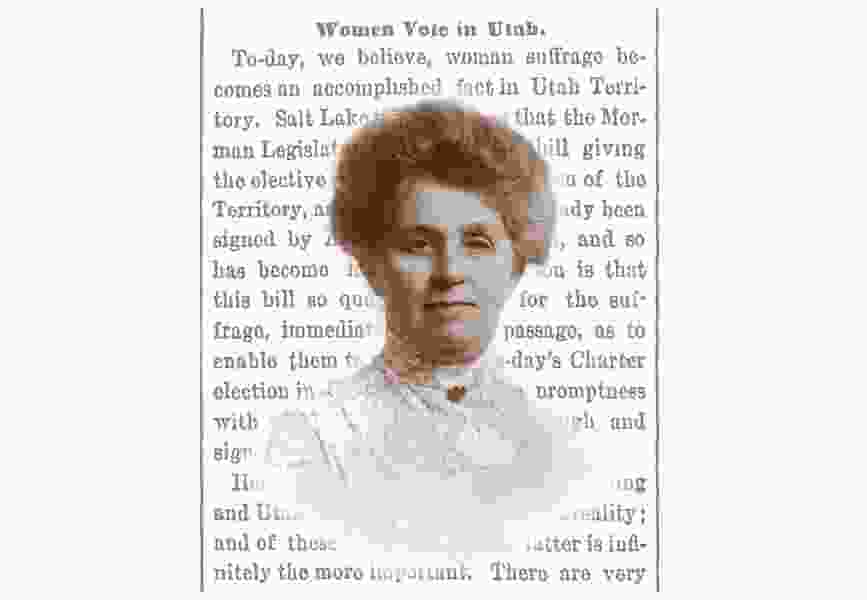 First vote by Utah woman under equal suffrage law 150 years ago wasn't big news in local newspapers