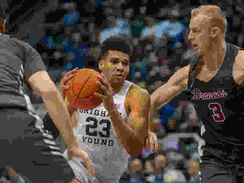 Will he stay or will he go? Star junior forward Yoeli Childs not thinking about his future — yet — as BYU prepares for WCC tournament game Saturday