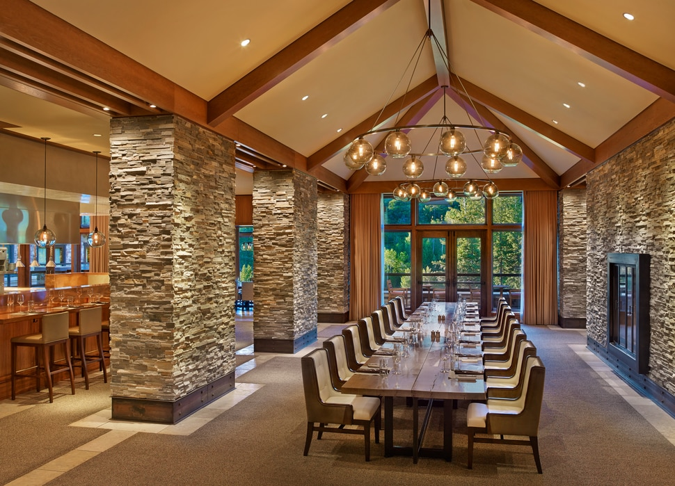 (Photo courtesy of St. Regis Deer Valley) The communal table at RIME in Park City.