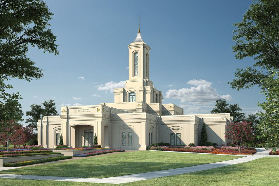 (Courtesy of The Church of Jesus Christ of Latter-day Saints) A rendering of the Moses Lake Washington Temple.