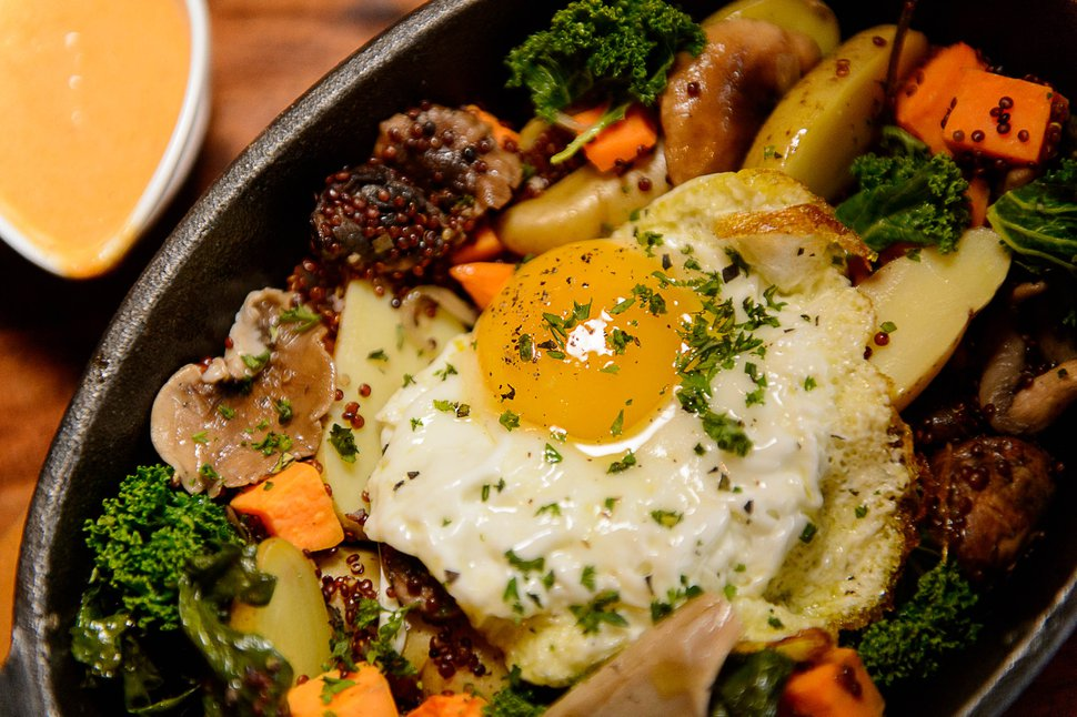 (Trent Nelson | Tribune file photo) Mushroom Trio and Potato Hash at The Brass Tag, a new restaurant inside the Lodges at Deer Valley, Thursday November 20, 2014.