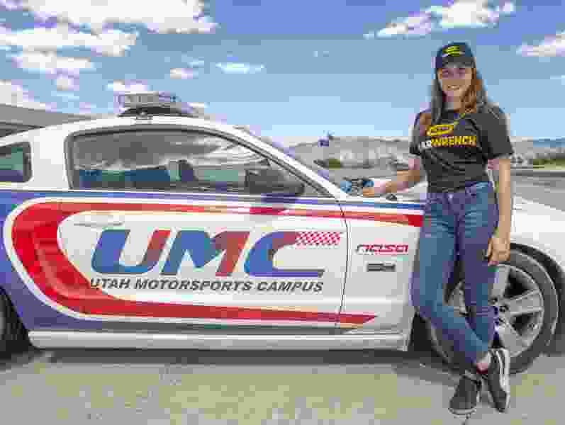 Bridget Burgess is trying to crack the code on an auto racing career — right in her backyard