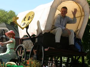 (Leah Hogsten     The Salt Lake Tribune) A Days of '47 Parade float from 2010. Scholars are urging Utahns and Latter-day Saints to view Pioneer Day in a more expansive way, recognizing that these settlers ended up displacing Native Americans from their lands and introducing slavery to the region.