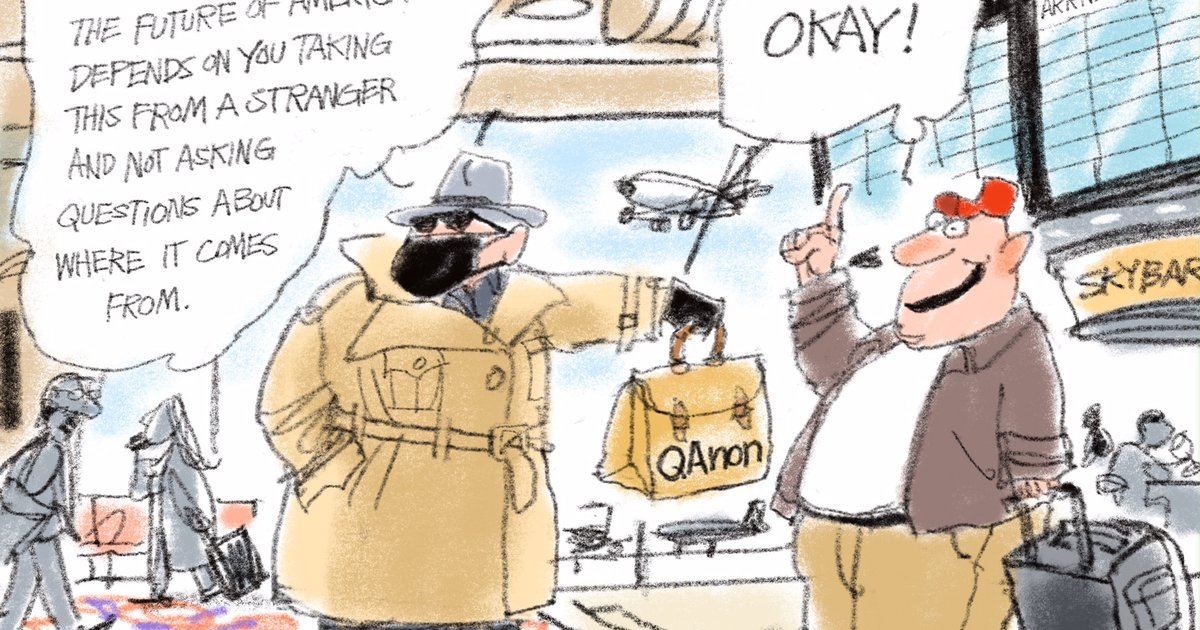 Bagley Cartoon: QAnon Be Like ...