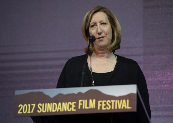 Rick Egan   The Salt Lake Tribune Festival director Keri Putnam address the crowd at the 2017 Sundance Film FestivalÕs Awards Ceremony, Saturday, January 28, 2017.