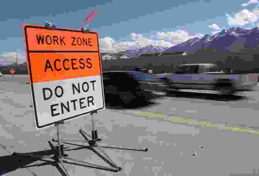 Weekend road work will complicate travel near Salt Lake City International Airport