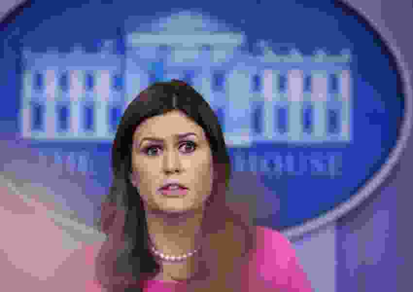 Dana Milbank: Sarah Huckabee Sanders is at a loss for words on Rob Porter. I am here for her.
