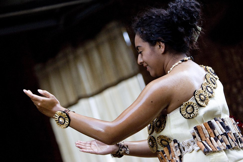 | Tribune File Photo Chelsey Uesi, 20, performs a Tauolunga, a traditional Tongan dance, for Halaevalu Mata'aho, the Queen Mother of Tonga, during an evening prayer and celebration at a home in West Valley City, Utah, on Wednesday, August 3, 2011.