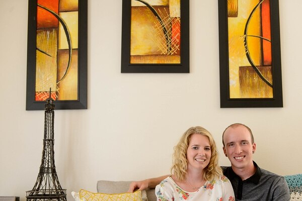 (Trent Nelson   The Salt Lake Tribune) Nicole Green and Dylan Mellenthin in their West Jordan home.