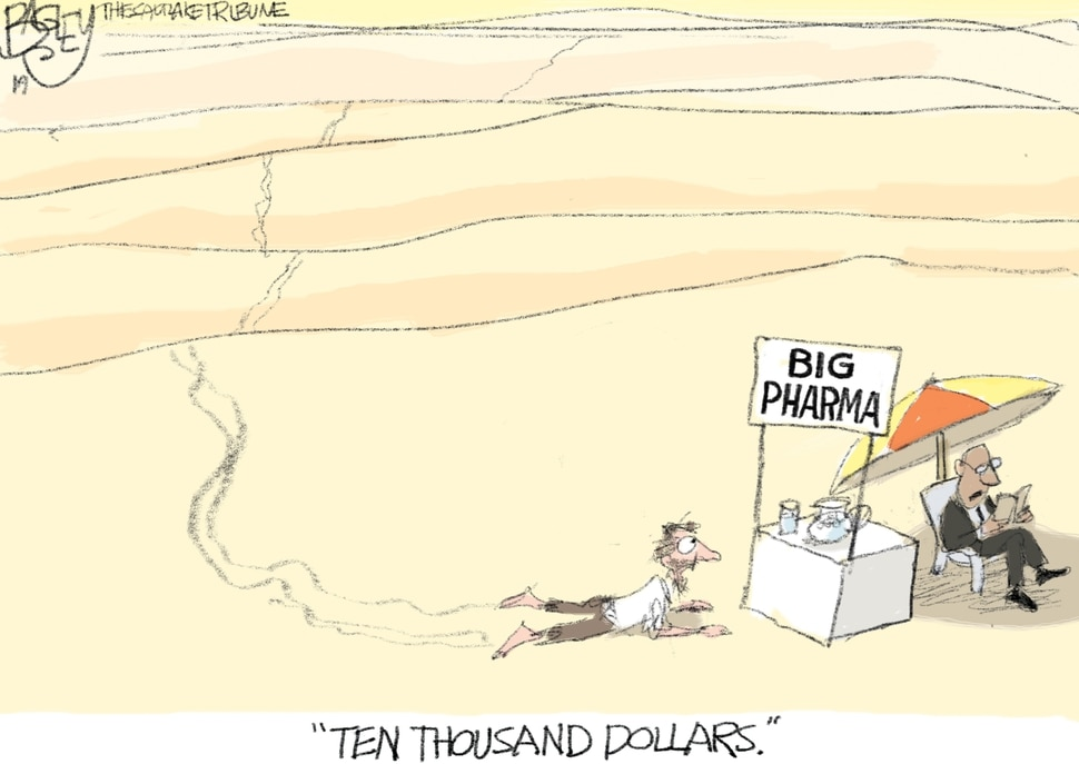 (Pat Bagley | The Salt Lake Tribune) This Pat Bagley cartoon, titled Maximizing Shareholder Value, appears in The Salt Lake Tribune on Sunday, July 14, 2019.