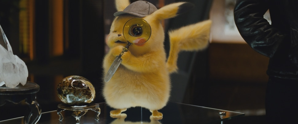 (Image courtesy Warner Bros. Pictures) Pikachu (voiced by Ryan Reynolds) tries to prove his worth as a sleuth, in the action comedy Pokemon Detective Pikachu.