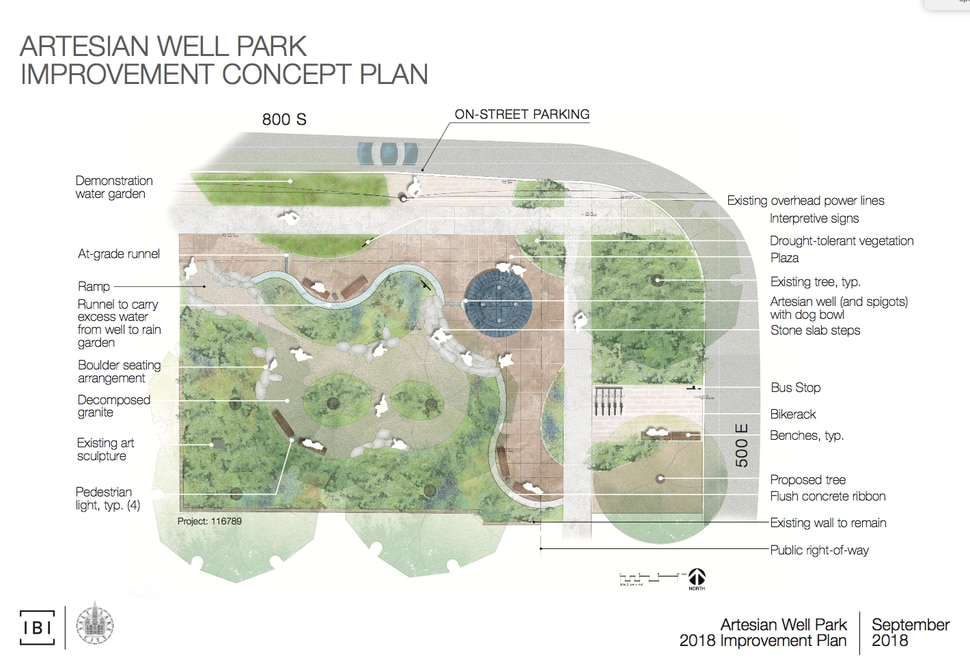 (Courtesy of Salt Lake City) City officials are temporarily closing Artesian Wells Park in Salt Lake City at 808 S. 500 East, for a renovation and landscaping upgrade designed at making the small park more appealing and improve access to its popular artesian well.