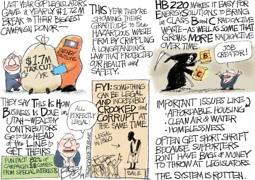This Pat Bagley cartoon appears in The Salt Lake Tribune on Friday, Feb. 8, 2019.