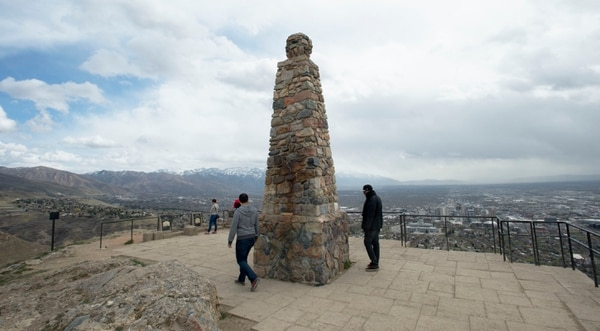 (Steve Griffin | Tribune file photo) Ensign Peak in Salt Lake City.