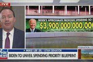 (Screengrab via grabien) Utah Sen. Mike Lee during an appearance on Fox News Channel, April 9, 2021