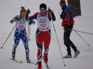 (Courtesy of Elizabeth Guiney)  Rosie Brennan of Park City competing in the U.S. Nationals in the classic sprint race.