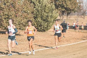(Photo courtesy of Creed Thompson) Skyridge High senior runner Creed Thompson, center, won the Gatorade award for boys' cross country in Utah.