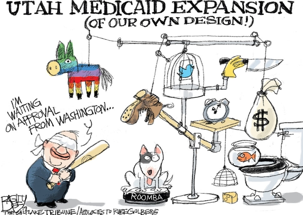 This Pat Bagley cartoon appears in The Salt Lake Tribune on Friday, March 29, 2019.