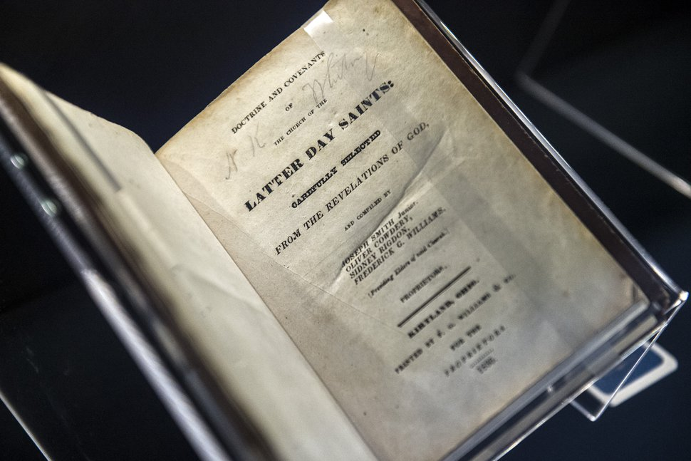 (Chris Detrick | Tribune file photo)The Doctrine and Covenants first edition from 1835 on display at the Church History Library on Sept. 3, 2014.